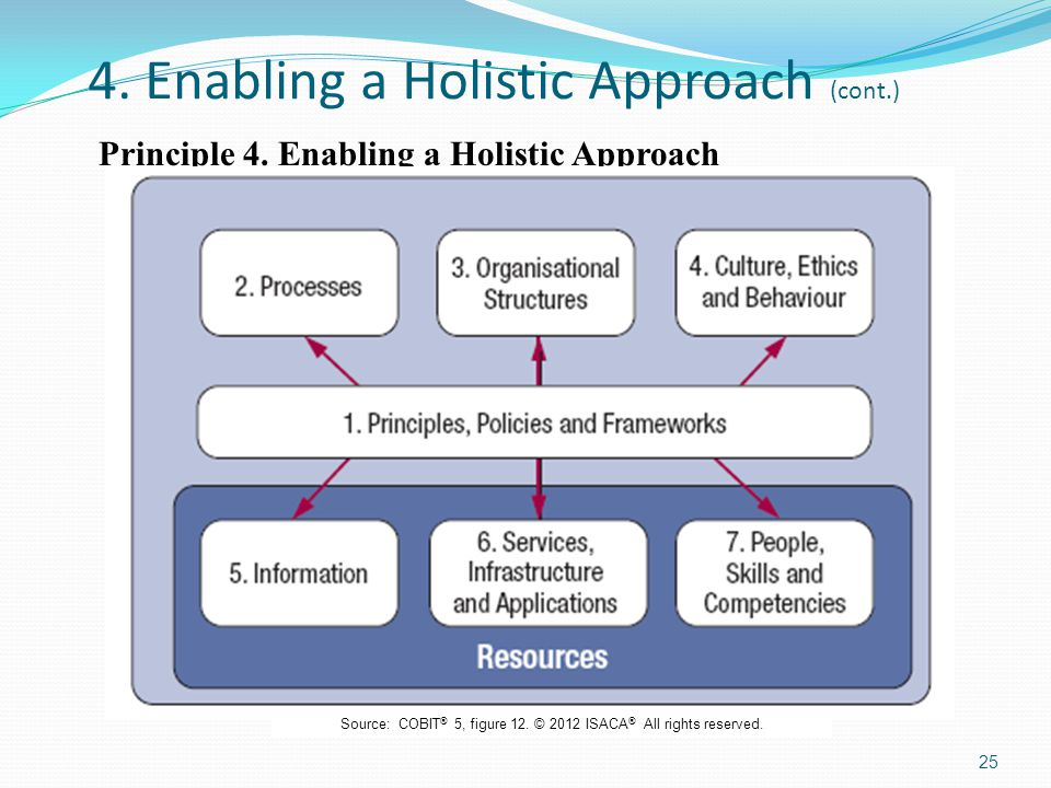 4. Enabling a Holistic Approach (cont.)