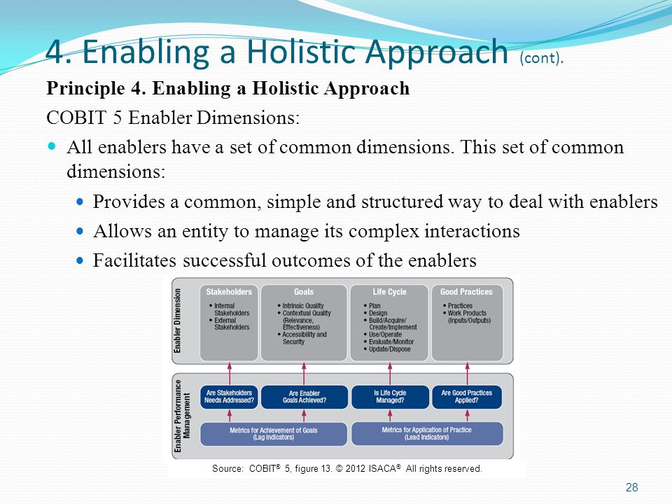 4. Enabling a Holistic Approach (cont).