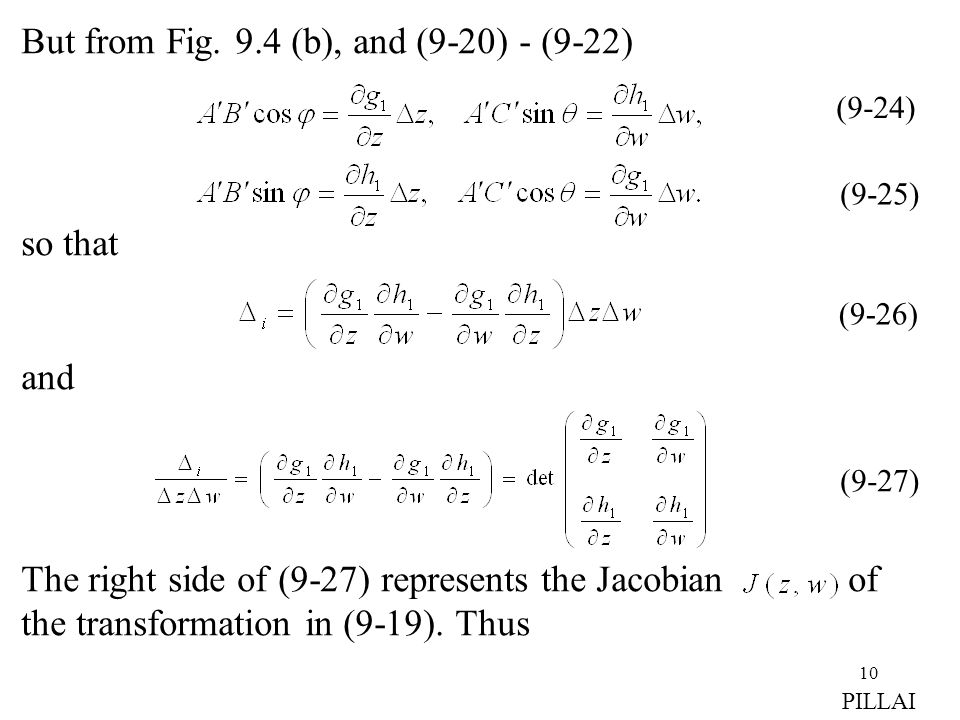 But from Fig. 9.4 (b), and (9-20) - (9-22)