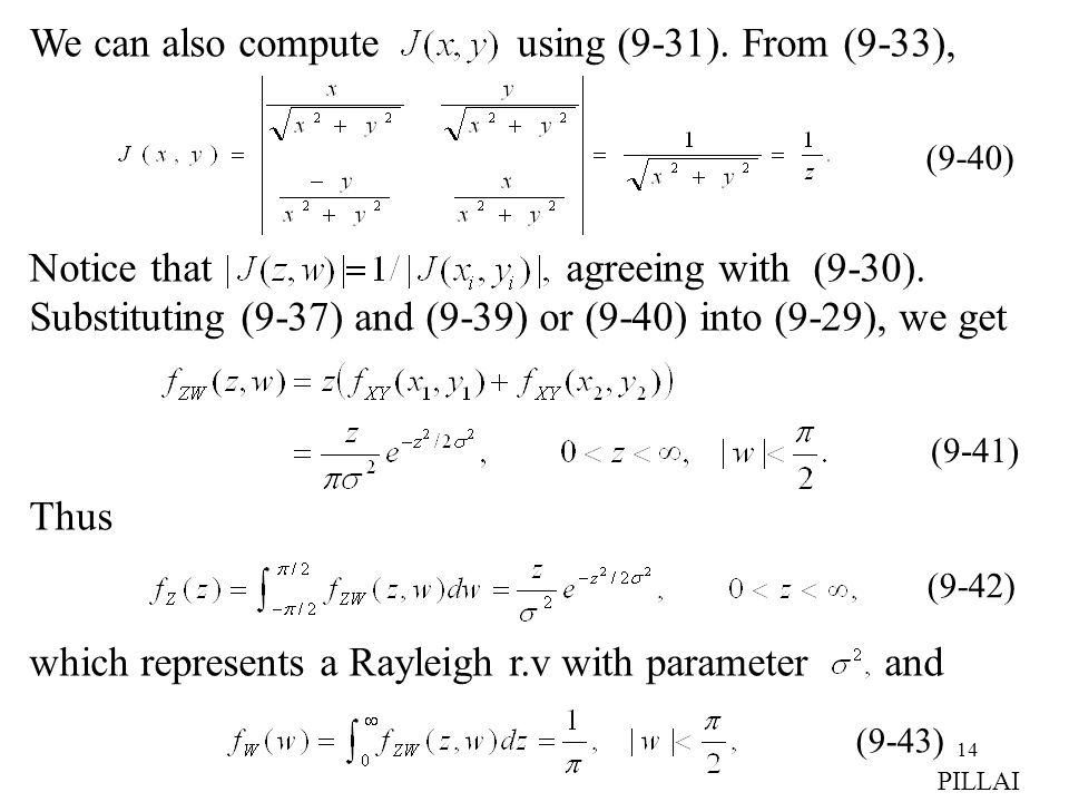 We can also compute using (9-31). From (9-33),