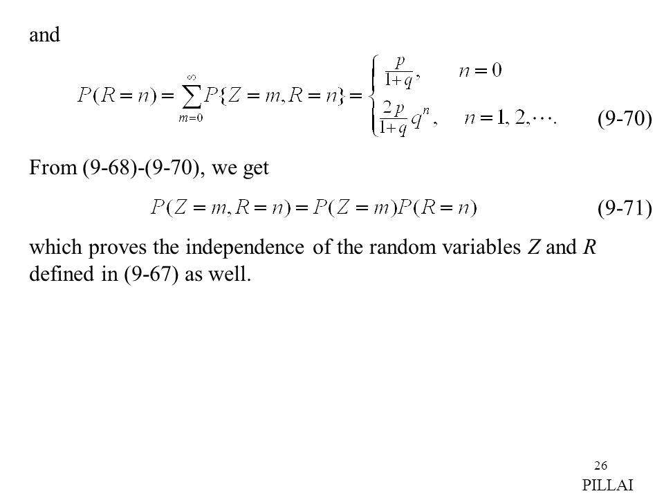 which proves the independence of the random variables Z and R