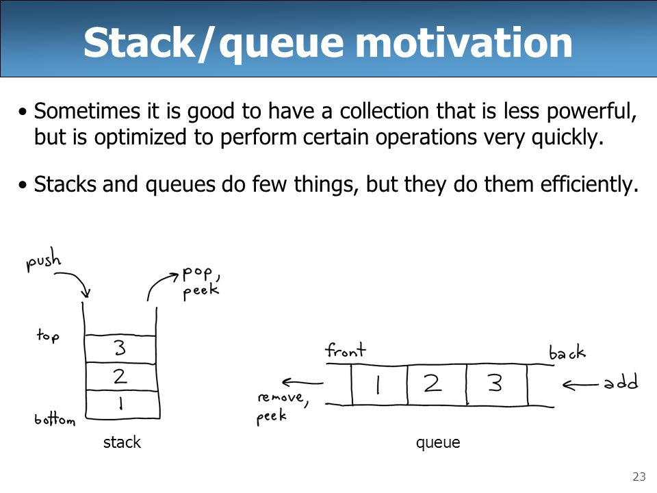 Stack/queue motivation