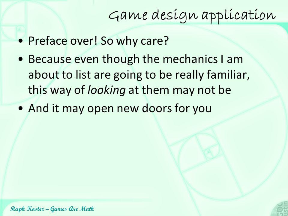Game design application