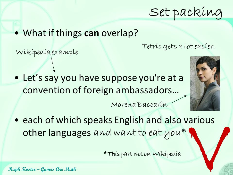 Set packing What if things can overlap