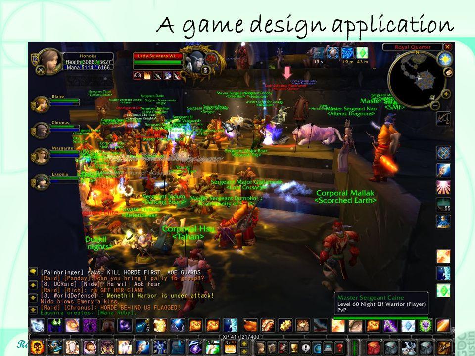 A game design application