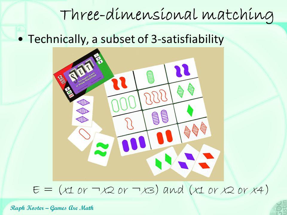 Three-dimensional matching
