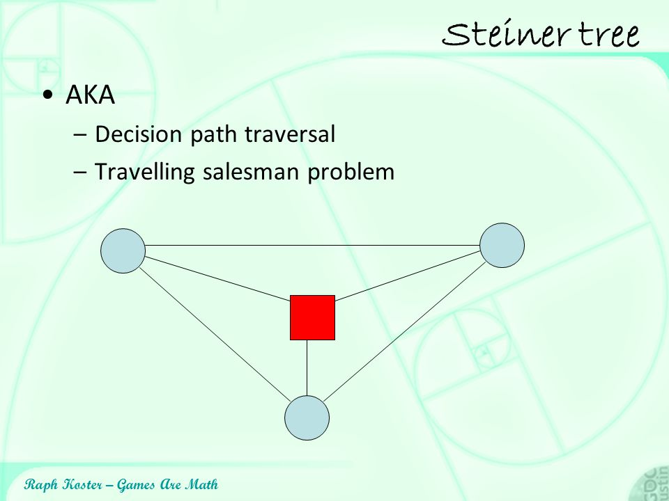 Steiner tree AKA Decision path traversal Travelling salesman problem