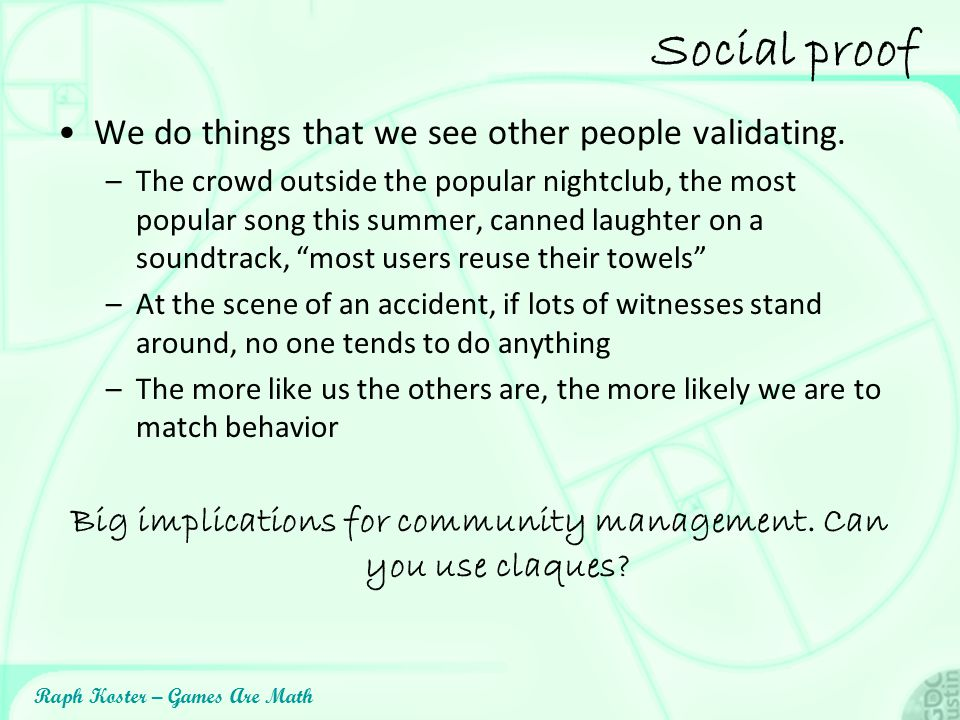 Big implications for community management. Can you use claques