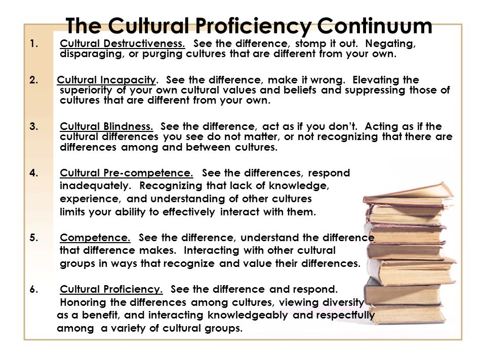 The Cultural Proficiency Continuum