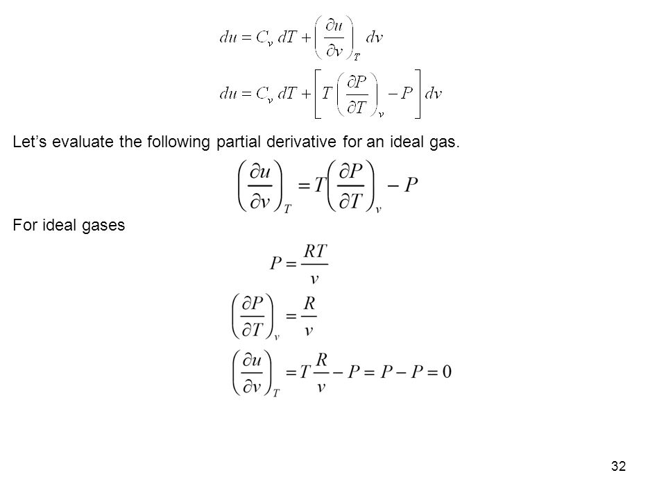 Let's evaluate the following partial derivative for an ideal gas.