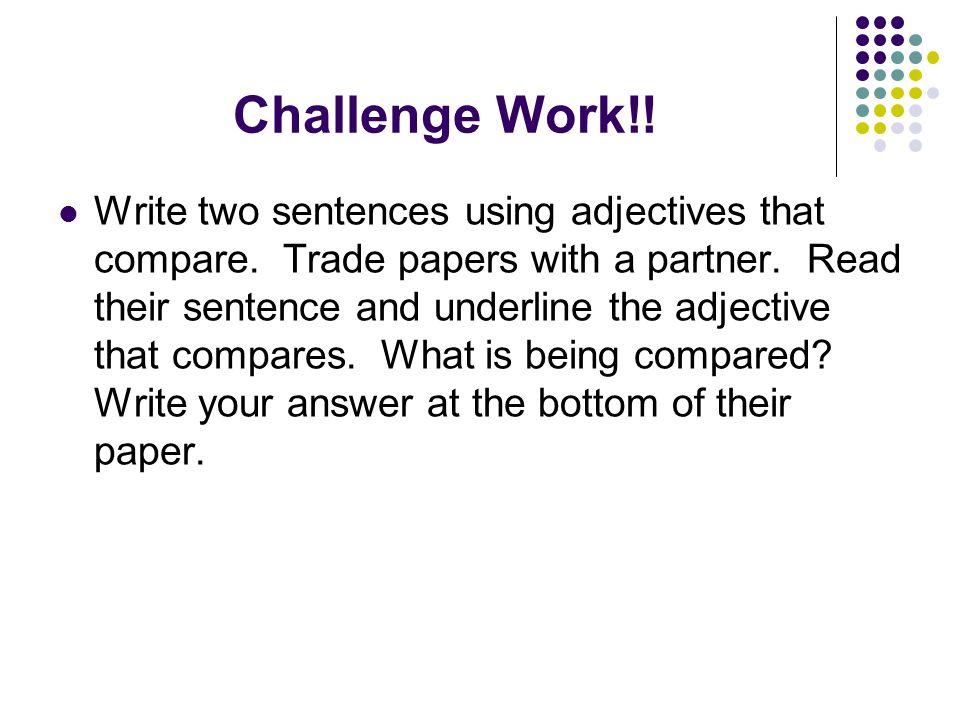 Challenge Work!!