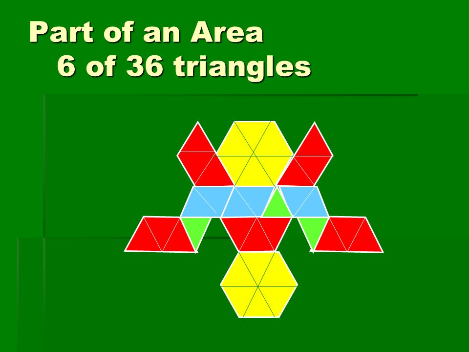 Part of an Area 6 of 36 triangles