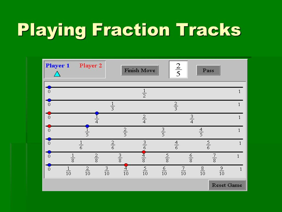 Playing Fraction Tracks