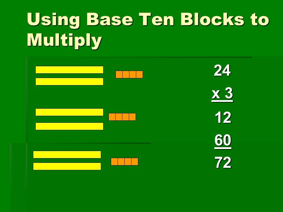Using Base Ten Blocks to Multiply