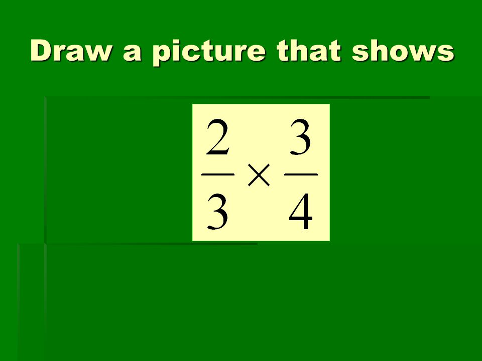Draw a picture that shows