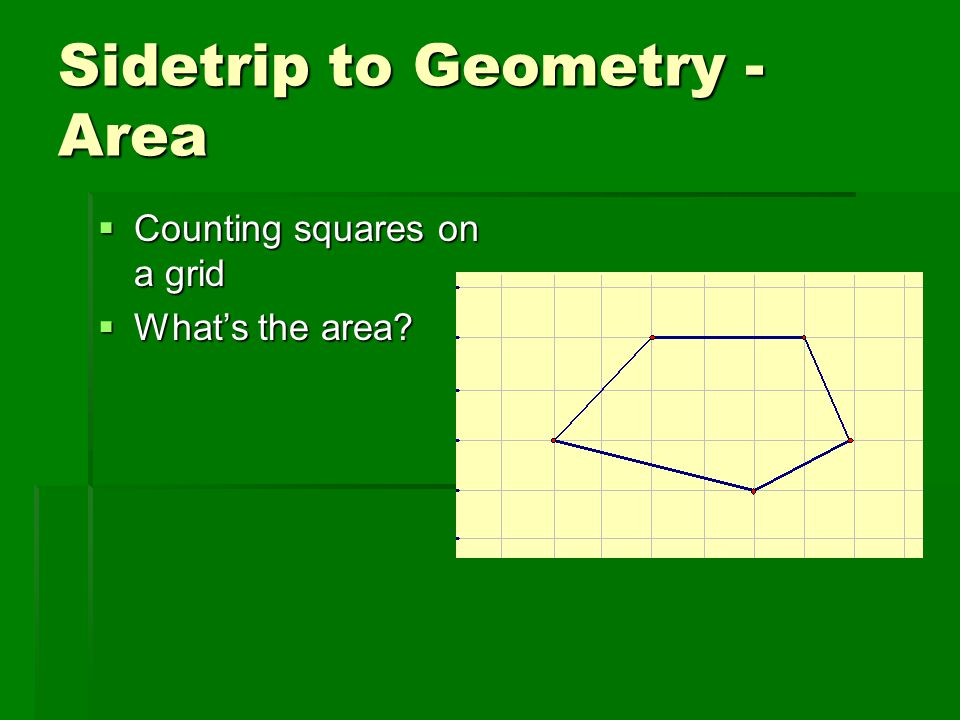 Sidetrip to Geometry - Area