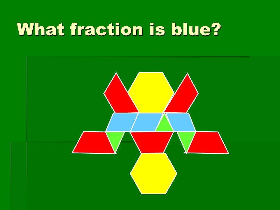 What fraction is blue