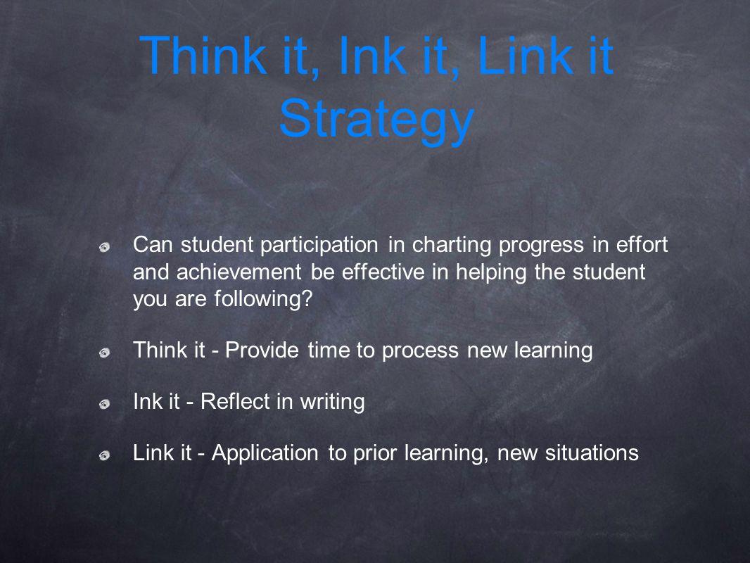 Think it, Ink it, Link it Strategy