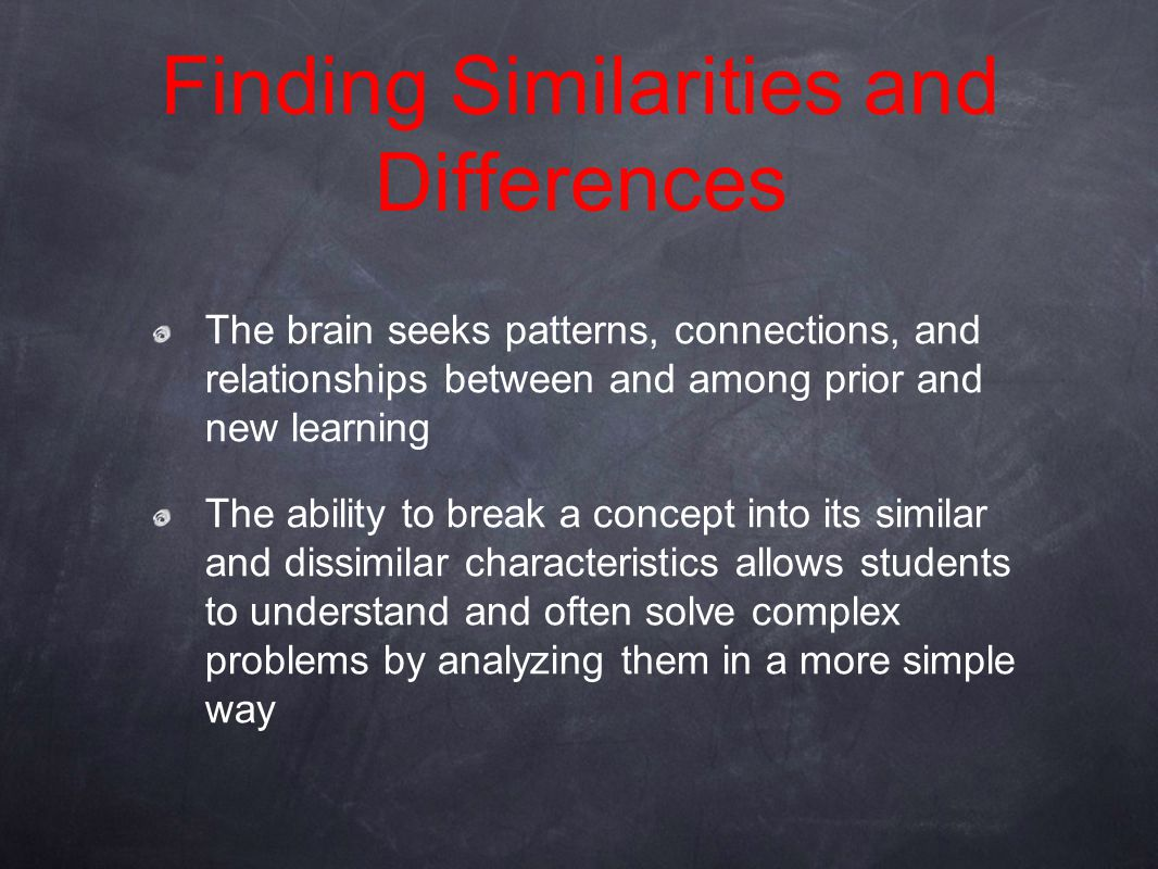 Finding Similarities and Differences