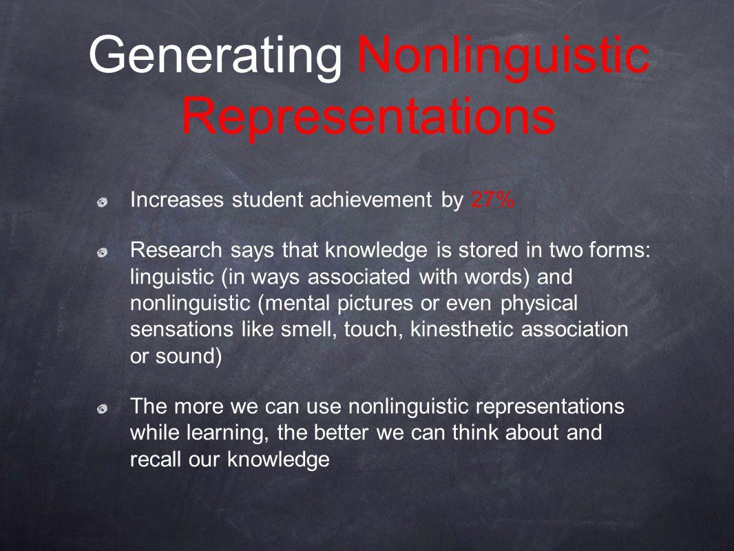 Generating Nonlinguistic Representations
