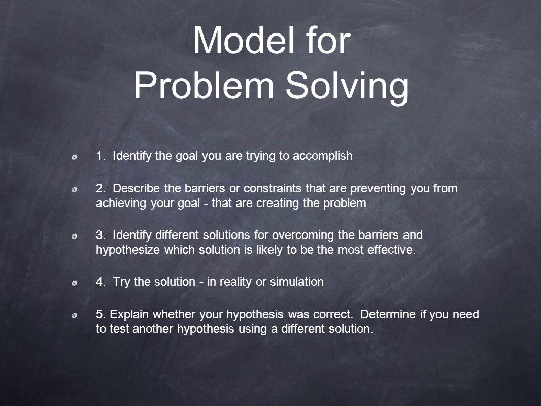 Model for Problem Solving