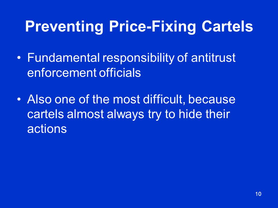 Preventing Price-Fixing Cartels