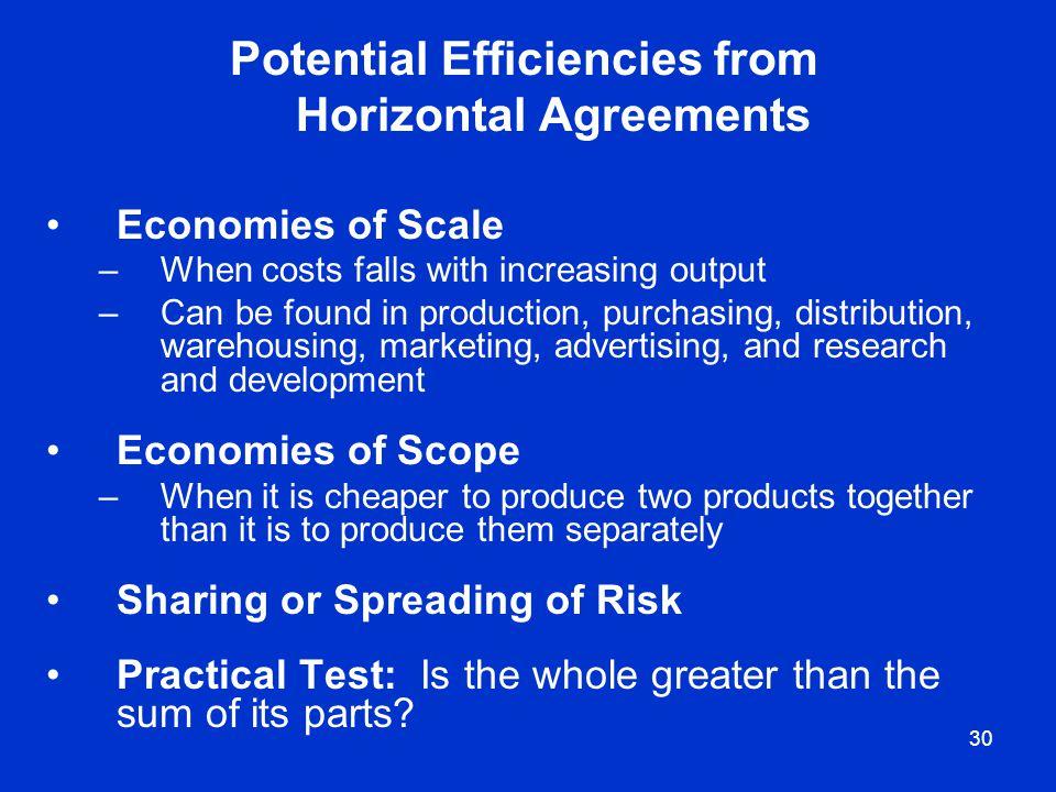 Potential Efficiencies from