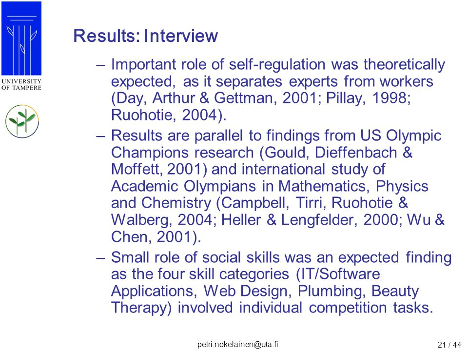 Results: Interview