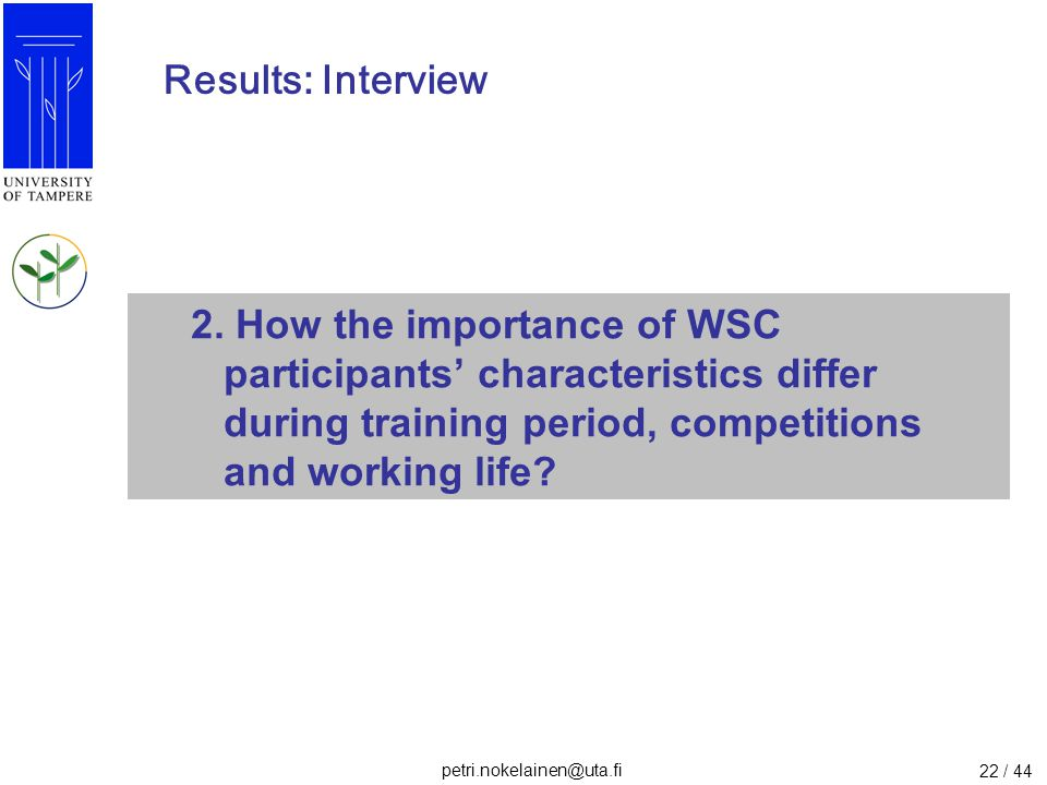 Results: Interview 2.