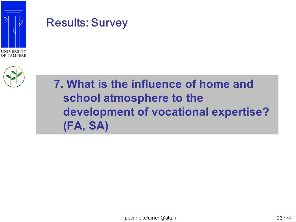 Results: Survey 7.