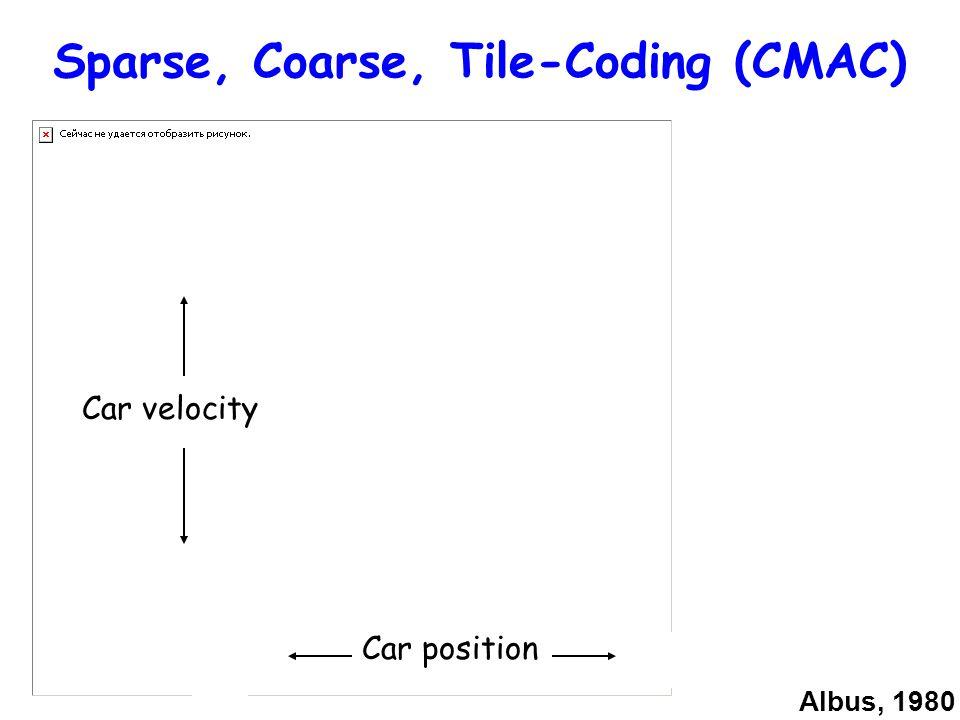 Sparse, Coarse, Tile-Coding (CMAC)