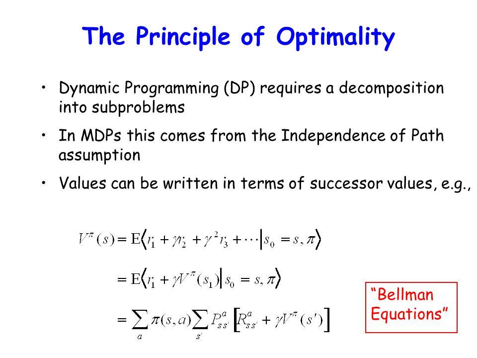 The Principle of Optimality