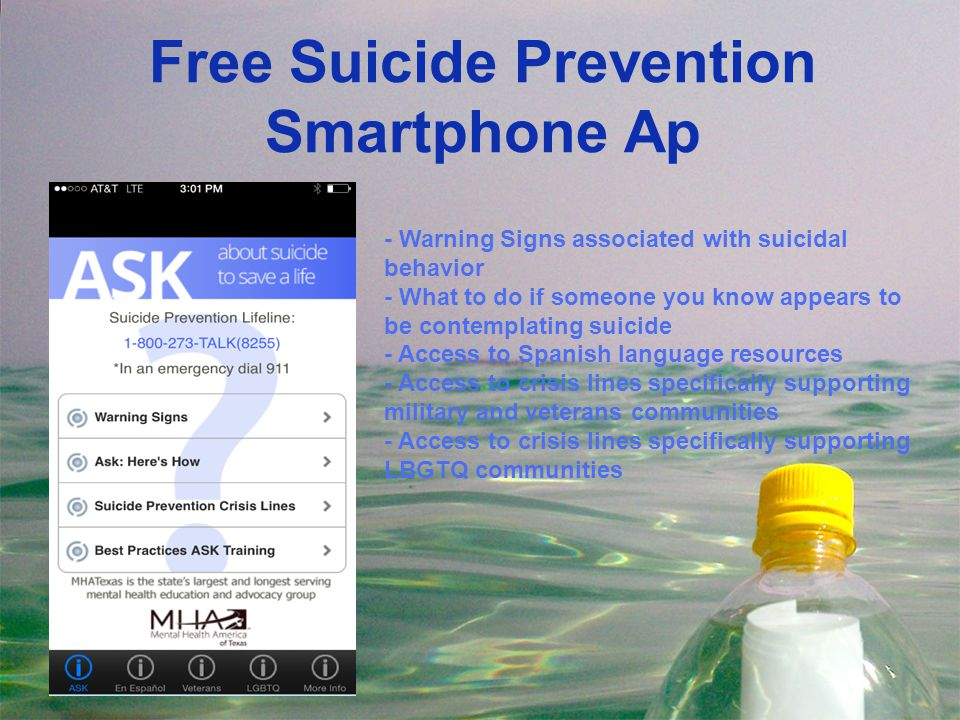 Free Suicide Prevention Smartphone Ap