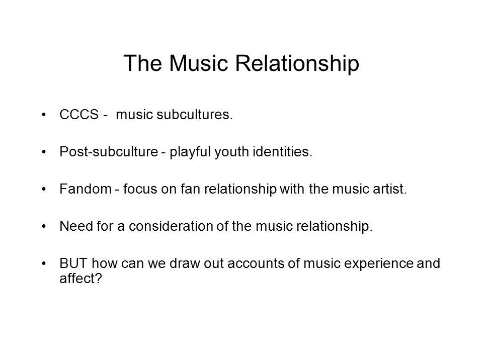 The Music Relationship