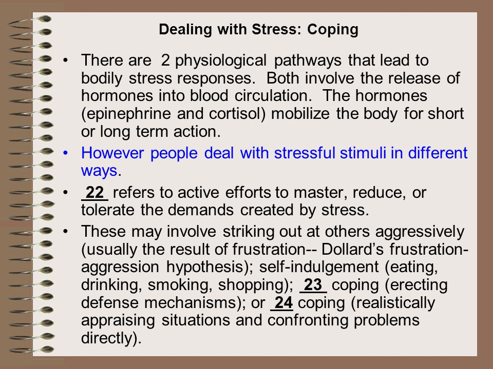 Dealing with Stress: Coping