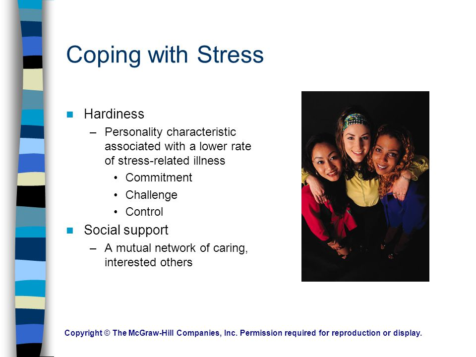 Coping with Stress Hardiness Social support