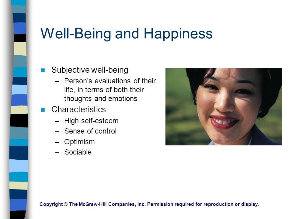 Well-Being and Happiness