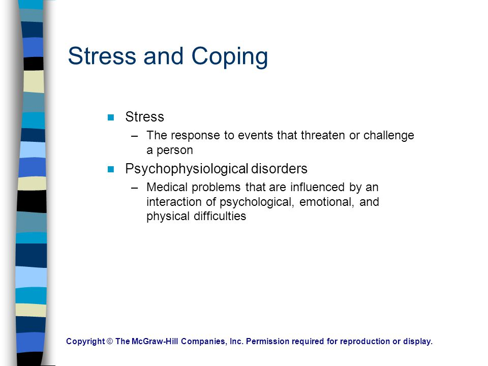 Stress and Coping Stress Psychophysiological disorders