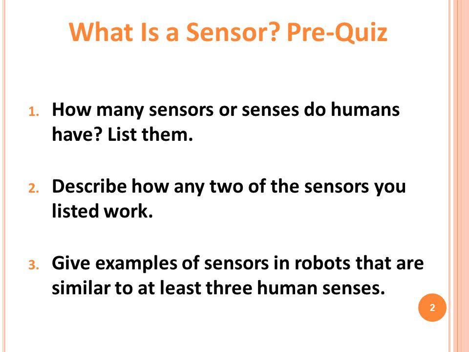 What Is a Sensor Pre-Quiz