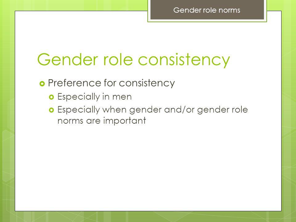 Gender role consistency
