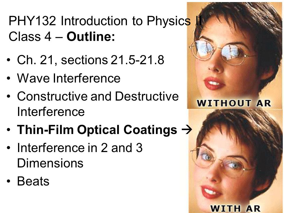 PHY132 Introduction to Physics II Class 4 – Outline: