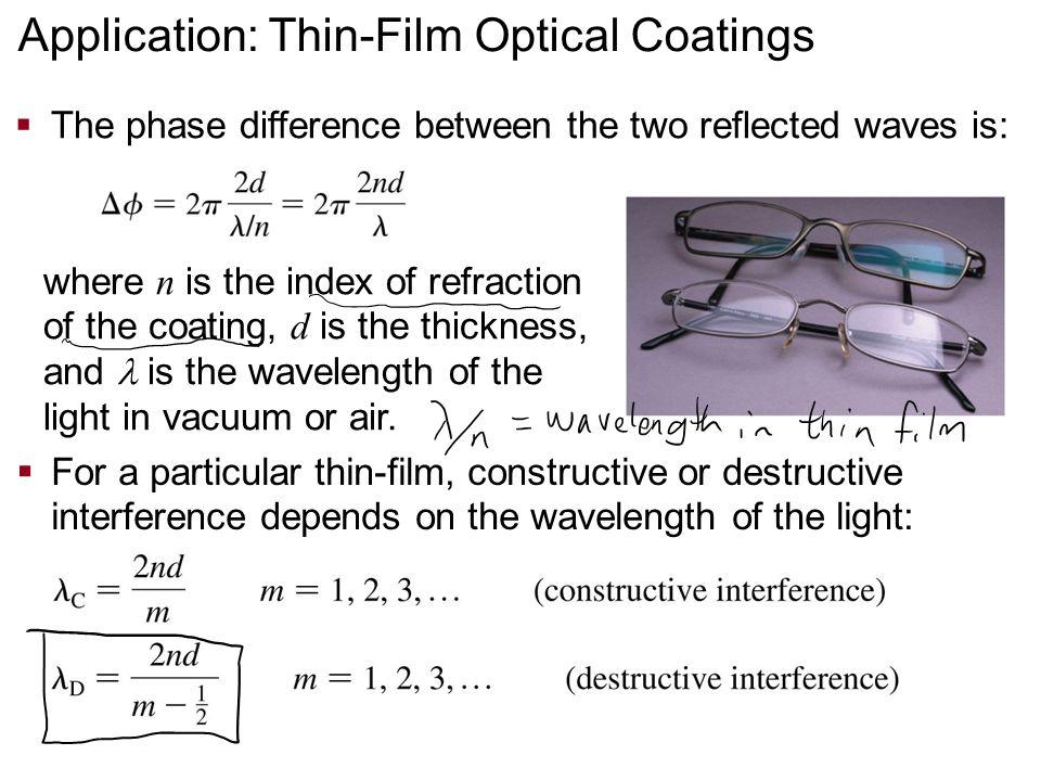 Application: Thin-Film Optical Coatings