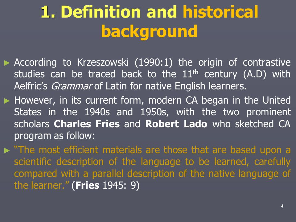 1. Definition and historical background