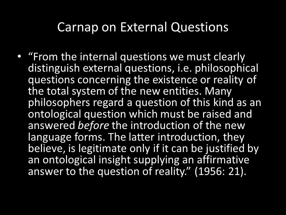 Carnap on External Questions