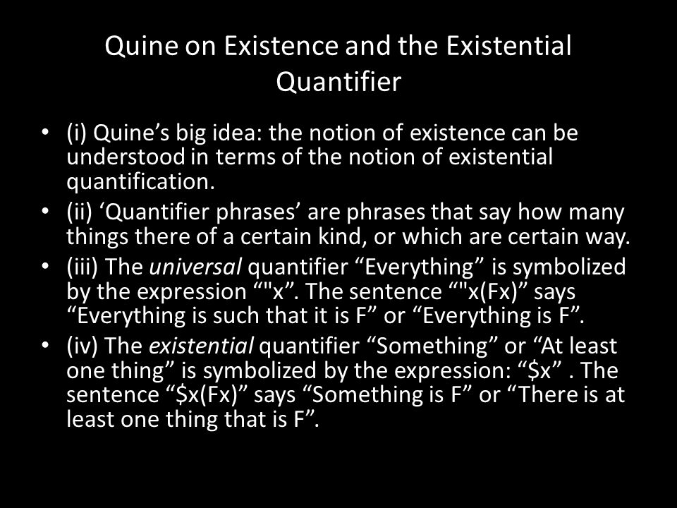 Quine on Existence and the Existential Quantifier