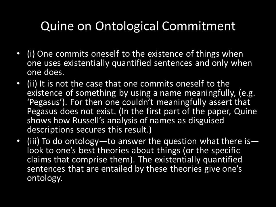 Quine on Ontological Commitment
