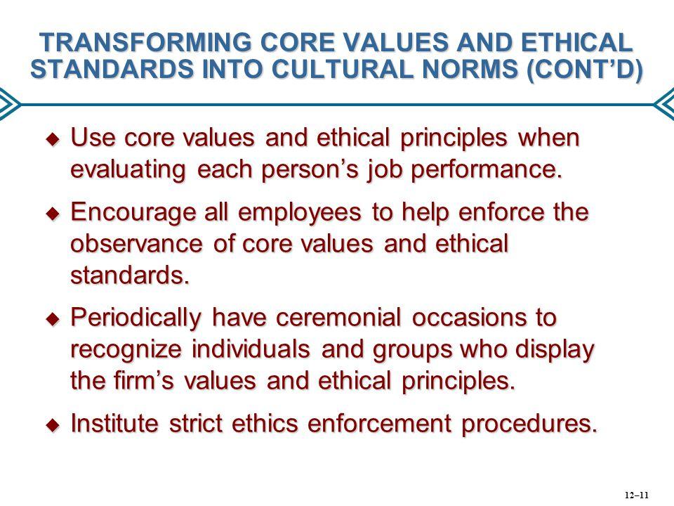 Institute strict ethics enforcement procedures.
