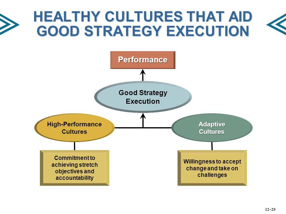 HEALTHY CULTURES THAT AID GOOD STRATEGY EXECUTION