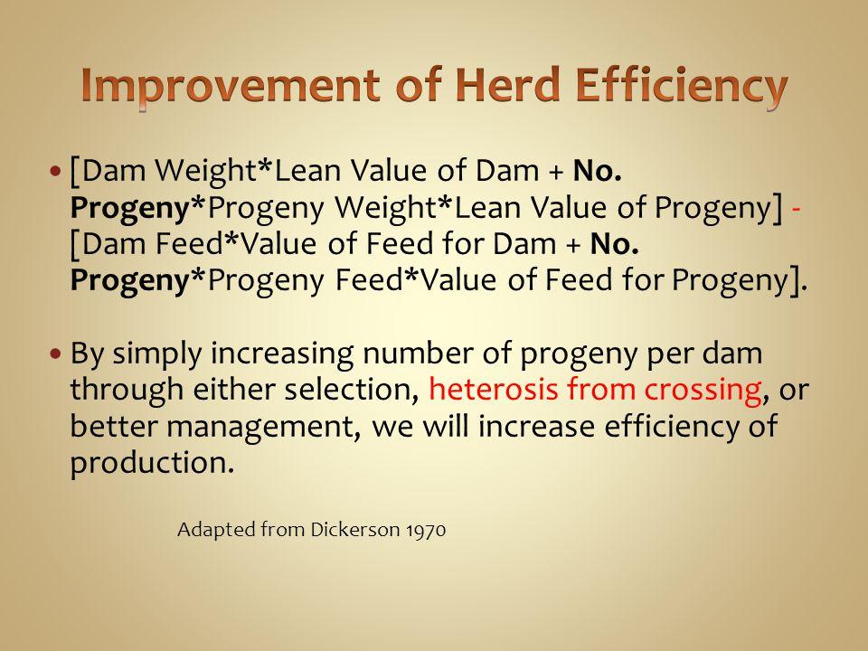 Improvement of Herd Efficiency