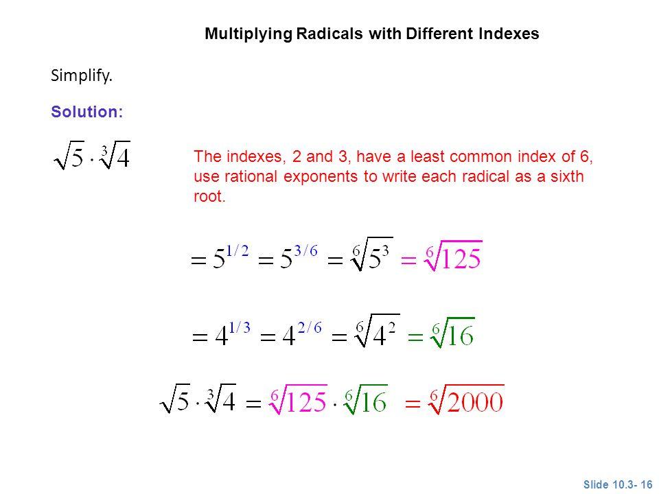 Simplify. CLASSROOM EXAMPLE 7